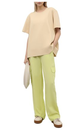 Женские брюки из вискозы 5PREVIEW светло-зеленого цвета, арт. 5PW21103 | Фото 2