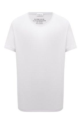 Женская хлопковая футболка 5PREVIEW белого цвета, арт. 5PW21116 | Фото 1