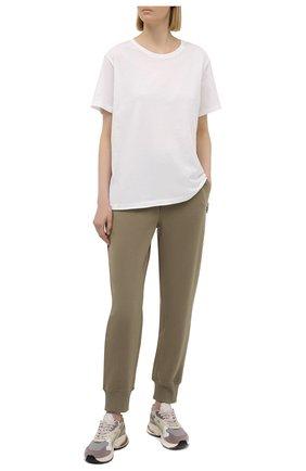 Женская хлопковая футболка 5PREVIEW белого цвета, арт. 5PW21116 | Фото 2