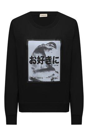 Женский хлопковый свитшот 5PREVIEW черного цвета, арт. 5PW21124 | Фото 1