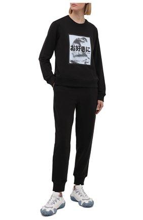 Женский хлопковый свитшот 5PREVIEW черного цвета, арт. 5PW21124 | Фото 2