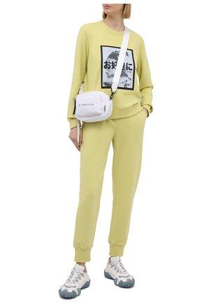 Женский хлопковый свитшот 5PREVIEW желтого цвета, арт. 5PW21124 | Фото 2