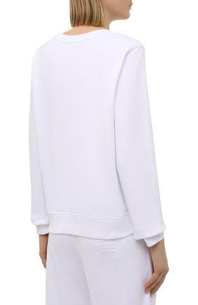 Женский хлопковый свитшот 5PREVIEW белого цвета, арт. 5PW21124 | Фото 4 (Рукава: Длинные; Длина (для топов): Стандартные; Материал внешний: Хлопок; Стили: Спорт-шик; Женское Кросс-КТ: Свитшот-одежда)