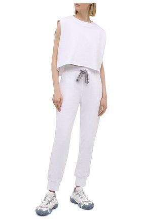 Женская хлопковая футболка 5PREVIEW белого цвета, арт. 5PW21024 | Фото 2