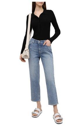 Женские джинсы PAIGE голубого цвета, арт. 6907635-4723 | Фото 2