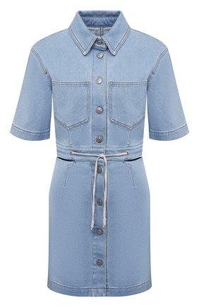 Женское джинсовое платье NANUSHKA голубого цвета, арт. TAYL0R_LIGHT BLUE_DENIM   Фото 1