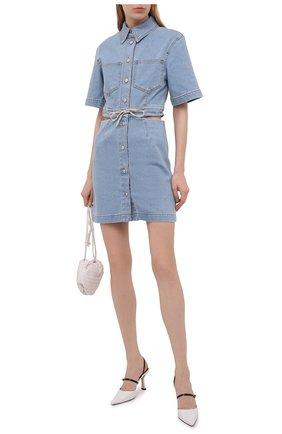 Женское джинсовое платье NANUSHKA голубого цвета, арт. TAYL0R_LIGHT BLUE_DENIM   Фото 2