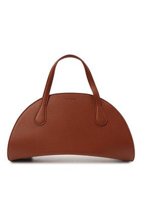 Женская сумка NANUSHKA коричневого цвета, арт. WISEM00N_RED TAN_VEGAN NAPPA | Фото 1 (Размер: medium; Сумки-технические: Сумки top-handle, Сумки через плечо; Материал: Экокожа, Текстиль; Ремень/цепочка: На ремешке)