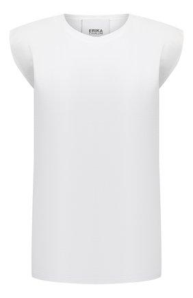 Женская хлопковая футболка ERIKA CAVALLINI белого цвета, арт. S1/P/P1SK03 | Фото 1