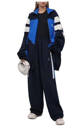 Женские брюки BALENCIAGA темно-синего цвета, арт. 659024/TK048 | Фото 2