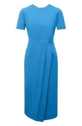 Женское комплект из платья и маски ROLAND MOURET синего цвета, арт. SS21/S2271/F2196   Фото 1