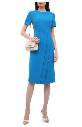 Женское комплект из платья и маски ROLAND MOURET синего цвета, арт. SS21/S2271/F2196   Фото 2