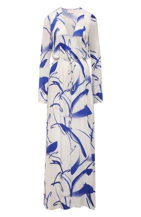 Женское платье из вискозы GALVAN LONDON голубого цвета, арт. DR0117 PRINT   Фото 1