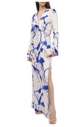 Женское платье из вискозы GALVAN LONDON голубого цвета, арт. DR0117 PRINT   Фото 2