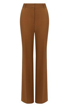 Женские хлопковые брюки VICTORIA BECKHAM коричневого цвета, арт. 1221WTR002664D | Фото 1