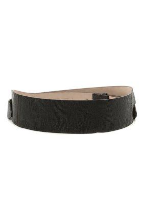 Женский кожаный пояс BRUNELLO CUCINELLI темно-коричневого цвета, арт. M0LBFC603P | Фото 1 (Кросс-КТ: Широкие)