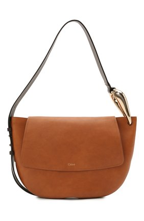 Женская сумка kiss CHLOÉ коричневого цвета, арт. CHC21US352E68 | Фото 1
