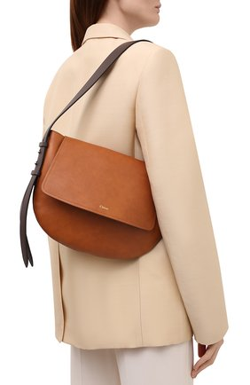 Женская сумка kiss CHLOÉ коричневого цвета, арт. CHC21US352E68 | Фото 2