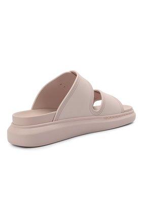 Женские шлепанцы ALEXANDER MCQUEEN светло-розового цвета, арт. 658063/W4Q51   Фото 4 (Материал внешний: Текстиль; Подошва: Платформа; Материал внутренний: Текстиль)