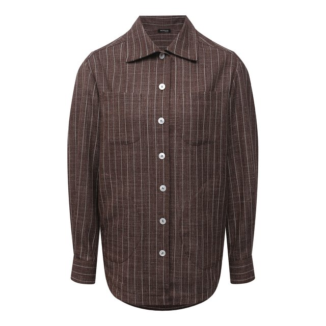 Рубашка из кашемира и шерсти Kiton