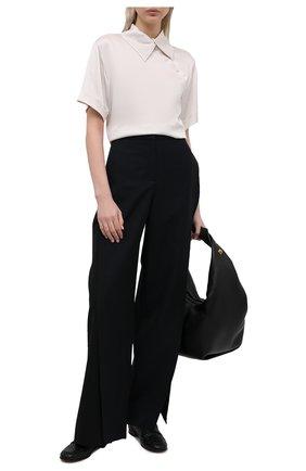 Женские кожаные лоферы thierry GIANVITO ROSSI черного цвета, арт. G25295.51CU0.NAPNER0   Фото 2