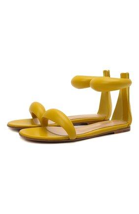 Женские кожаные сандалии california GIANVITO ROSSI желтого цвета, арт. G61604.05CU0.NAPMIM0 | Фото 1