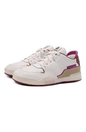 Женские кожаные кроссовки ISABEL MARANT белого цвета, арт. EMREE/BK0267-21E033S | Фото 1