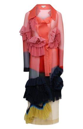 Женский шелковый тренч DRIES VAN NOTEN разноцветного цвета, арт. 211-10241-2086 | Фото 1