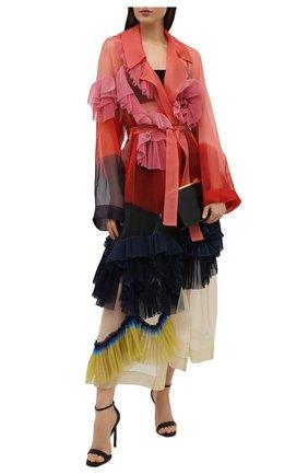 Женский шелковый тренч DRIES VAN NOTEN разноцветного цвета, арт. 211-10241-2086 | Фото 2