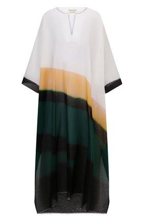 Женская хлопковая туника DRIES VAN NOTEN зеленого цвета, арт. 211-50740-2012   Фото 1