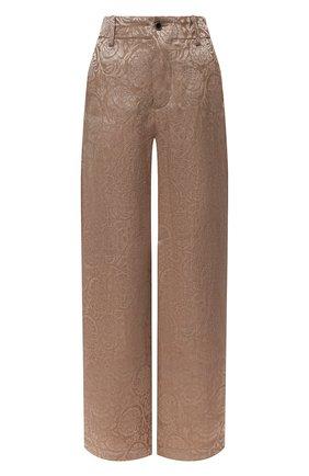 Женские льняные брюки UMA WANG бежевого цвета, арт. S1 W UW3036 | Фото 1 (Силуэт Ж (брюки и джинсы): Широкие; Длина (брюки, джинсы): Стандартные; Женское Кросс-КТ: Брюки-одежда; Стили: Романтичный; Материал внешний: Лен)