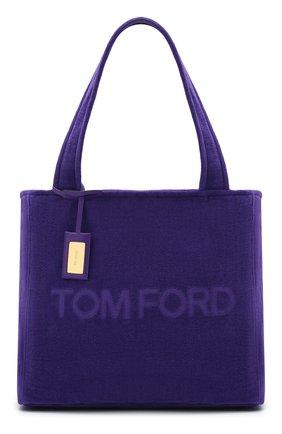 Женский сумка-тоут beachwear medium TOM FORD фиолетового цвета, арт. L1438T-TT0001 | Фото 1