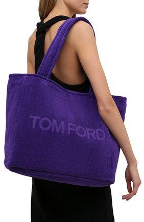 Женский сумка-тоут beachwear medium TOM FORD фиолетового цвета, арт. L1438T-TT0001 | Фото 2