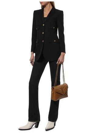 Женский шерстяной жакет SAINT LAURENT черного цвета, арт. 660055/Y512W | Фото 2