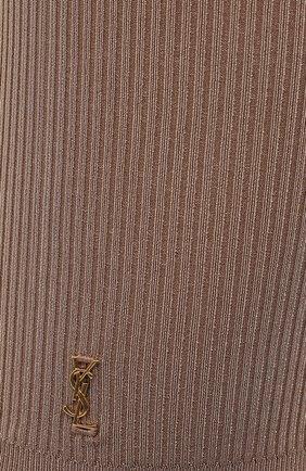 Женские шорты из вискозы SAINT LAURENT бежевого цвета, арт. 657443/Y75BE   Фото 5 (Женское Кросс-КТ: Шорты-одежда; Длина Ж (юбки, платья, шорты): Мини; Кросс-КТ: Трикотаж; Материал внешний: Вискоза; Стили: Кэжуэл)