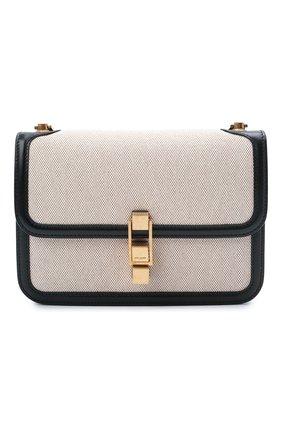 Женская сумка carre SAINT LAURENT черно-белого цвета, арт. 647713/HZDAW | Фото 1