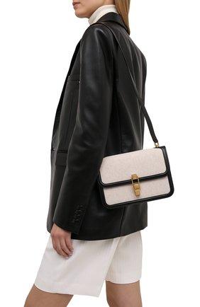 Женская сумка carre SAINT LAURENT черно-белого цвета, арт. 647713/HZDAW | Фото 2