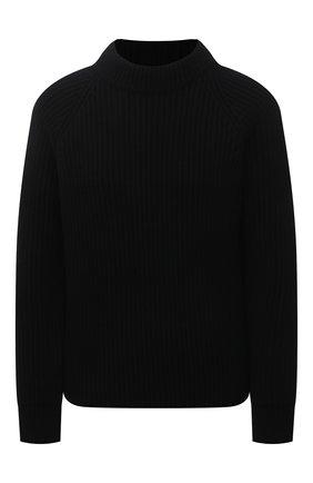 Женский шерстяной свитер SAINT LAURENT черного цвета, арт. 609356/YAFH2 | Фото 1
