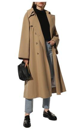 Женский шерстяной свитер SAINT LAURENT черного цвета, арт. 609356/YAFH2 | Фото 2
