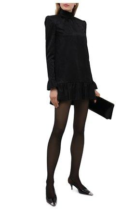 Женское платье SAINT LAURENT черного цвета, арт. 661829/Y234T | Фото 2