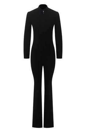 Женский шерстяной комбинезон SAINT LAURENT черного цвета, арт. 657666/Y288V   Фото 1