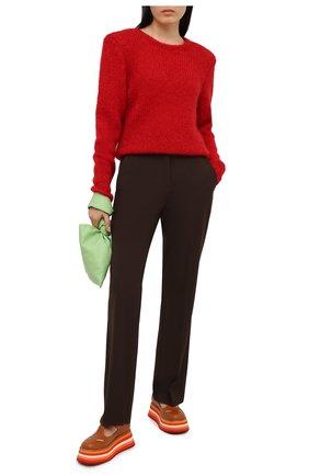 Женская кожаные туфли aldwych BURBERRY коричневого цвета, арт. 8039278 | Фото 2 (Материал внутренний: Натуральная кожа; Подошва: Платформа)