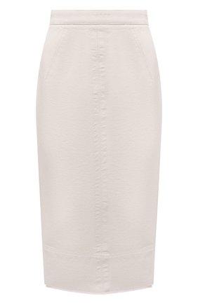 Женская джинсовая юбка N21 бежевого цвета, арт. 21E N2S0/C011/0014   Фото 1