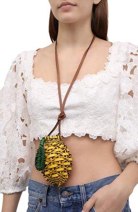 Женская сумка fruit mini loewe x paula's ibiza LOEWE желтого цвета, арт. C879B38X01   Фото 2