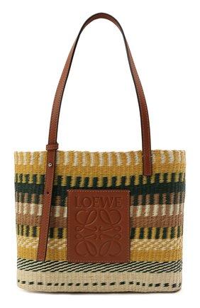 Женский сумка basket small loewe x paula's ibiza LOEWE желтого цвета, арт. A223099X07   Фото 1