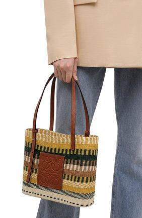 Женский сумка basket small loewe x paula's ibiza LOEWE желтого цвета, арт. A223099X07   Фото 2