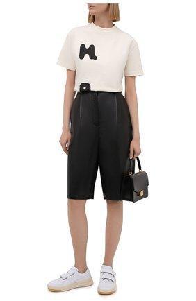 Женская хлопковая футболка HERON PRESTON светло-бежевого цвета, арт. HWAA024R21JER0010410   Фото 2