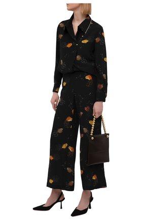 Женские шелковые брюки LANVIN черного цвета, арт. RW-TR0002-4895-E21 | Фото 2