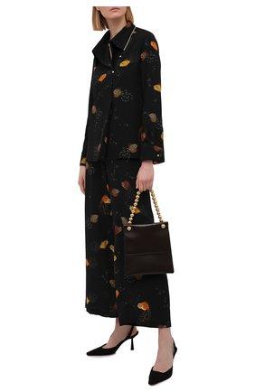 Женская шелковая блузка LANVIN черного цвета, арт. RW-T00008-4895-E21 | Фото 2