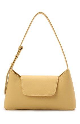 Женская сумка envelope ELLEME желтого цвета, арт. ENVEL0PE/PEBBLE LEATHER | Фото 1